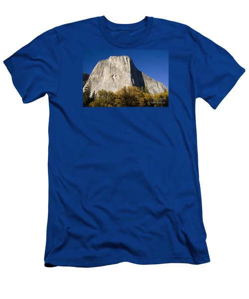 Men's T-Shirt (Slim Fit) featuring the photograph El Capitan In Yosemite National Park by David Millenheft