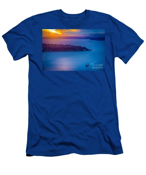 Elliott Bay Sunset Men's T-Shirt (Athletic Fit)