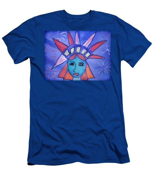Emma's Lady Liberty Men's T-Shirt (Athletic Fit)