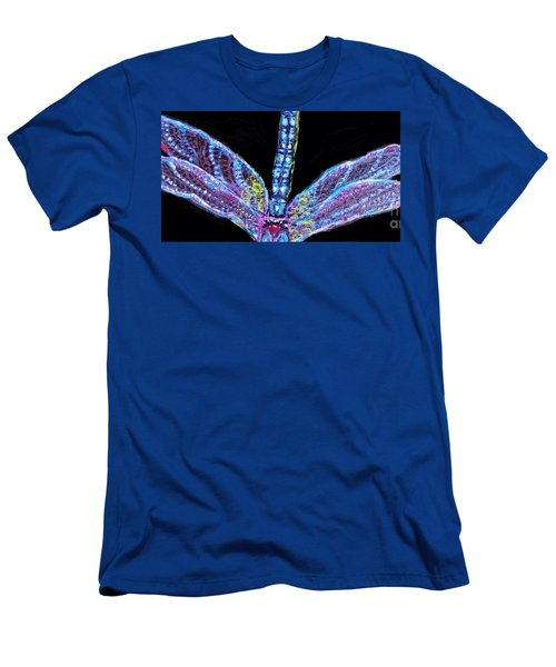 Men's T-Shirt (Slim Fit) featuring the painting Ethereal Wings Of Blue by Kimberlee Baxter