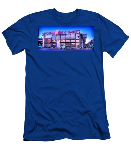 Evening Milwaukee Public Market Men's T-Shirt (Athletic Fit)