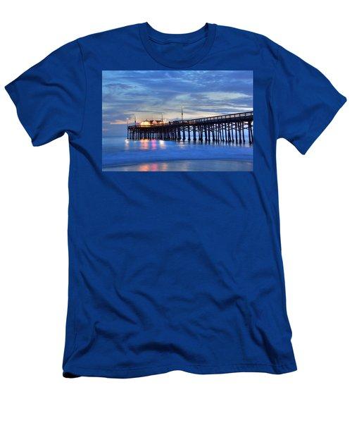 Evening Reflections Newport Beach Pier Men's T-Shirt (Athletic Fit)