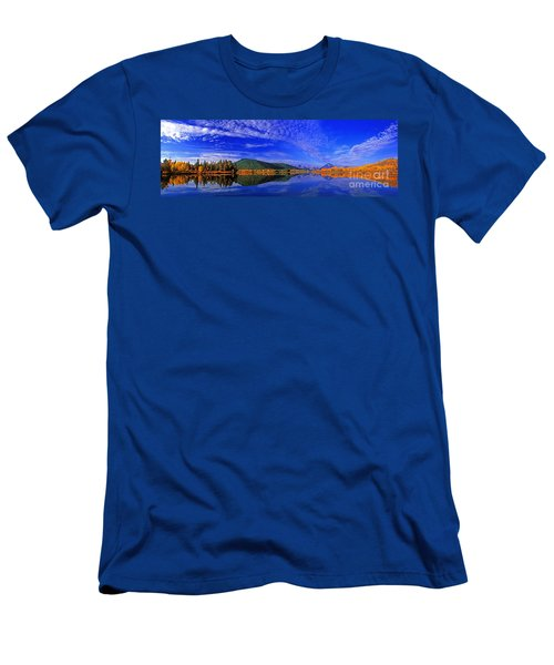 Men's T-Shirt (Slim Fit) featuring the photograph Fall Color Oxbow Bend Grand Tetons National Park Wyoming by Dave Welling