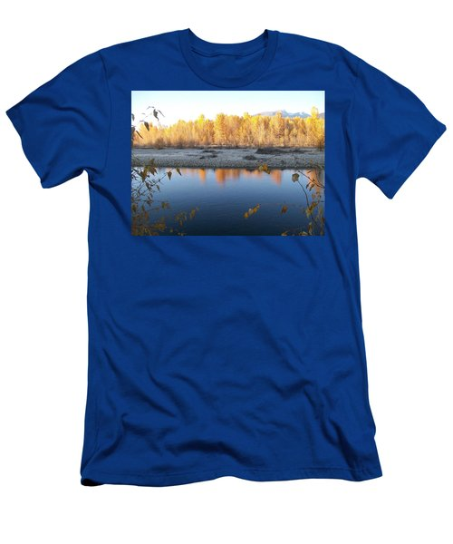 Men's T-Shirt (Slim Fit) featuring the photograph Fall Reflection 2 by Jewel Hengen