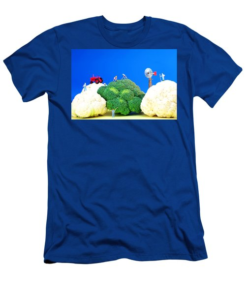 Farming On Broccoli And Cauliflower Men's T-Shirt (Slim Fit) by Paul Ge