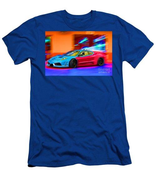 Men's T-Shirt (Slim Fit) featuring the photograph Ferrari Baby Blue by Gunter Nezhoda