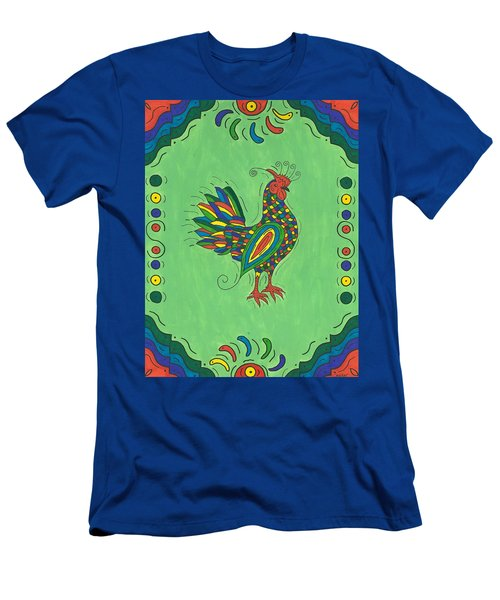 Men's T-Shirt (Slim Fit) featuring the painting Fiesta Rooster by Susie Weber