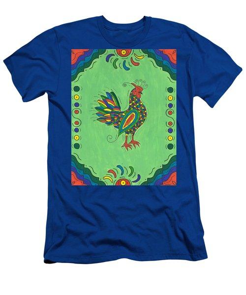 Fiesta Rooster Men's T-Shirt (Slim Fit) by Susie Weber