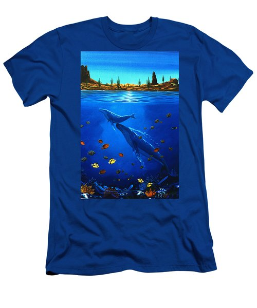 Men's T-Shirt (Slim Fit) featuring the painting First Breath by Lance Headlee