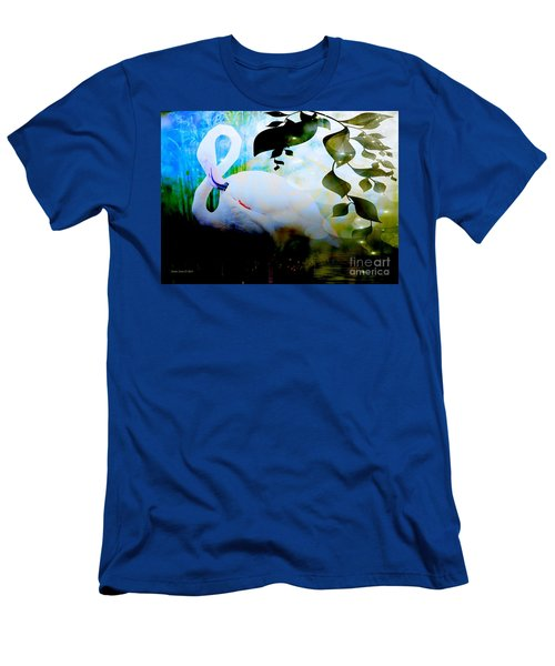 Men's T-Shirt (Slim Fit) featuring the photograph Flamingo by Annie Zeno