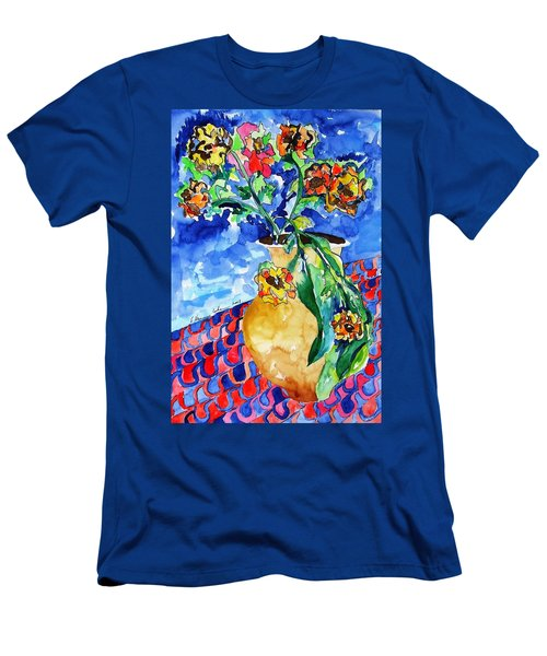 Flip Of Flowers Men's T-Shirt (Slim Fit) by Esther Newman-Cohen