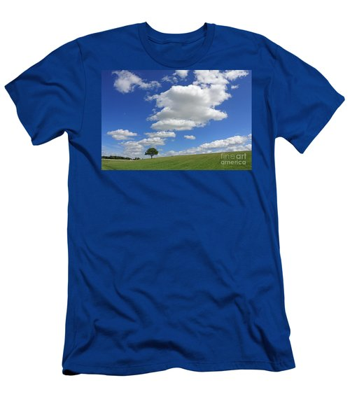 Fluffy Clouds Over Epsom Downs Surrey Men's T-Shirt (Athletic Fit)