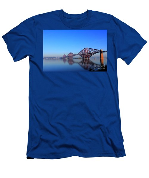 Men's T-Shirt (Slim Fit) featuring the photograph Forth Rail Bridge by David Grant