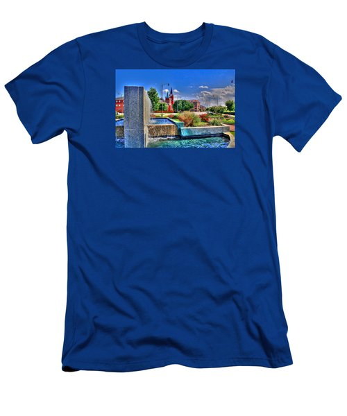 Fountain On Ray Men's T-Shirt (Athletic Fit)