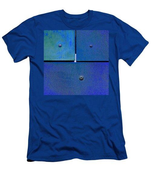 Four Five Six - Colorful Rust - Blue Men's T-Shirt (Athletic Fit)