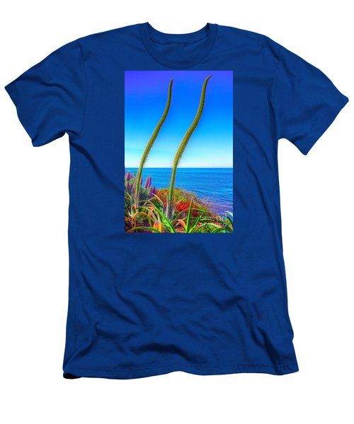 Men's T-Shirt (Slim Fit) featuring the photograph Foxtails On The Pacific by Jim Carrell