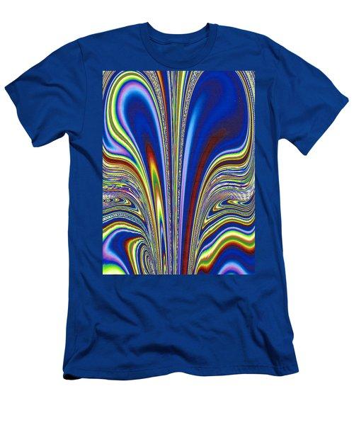 Men's T-Shirt (Slim Fit) featuring the digital art Fractal Flame by Joan Hartenstein