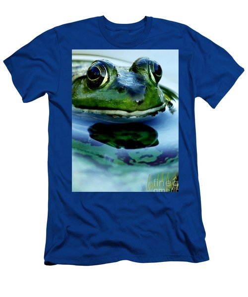 Green Frog I Only Have Eyes For You Men's T-Shirt (Slim Fit) by Carol F Austin