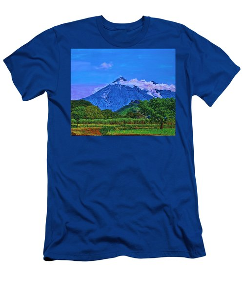 Fuego Volcano Guatamala Men's T-Shirt (Athletic Fit)