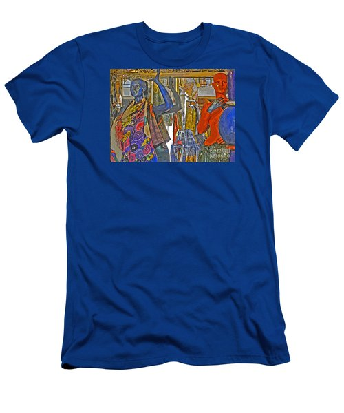 Men's T-Shirt (Slim Fit) featuring the photograph Funky Boutique by Ann Horn