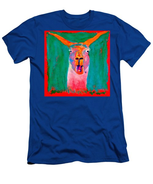 Funky Llama Art Print Men's T-Shirt (Athletic Fit)