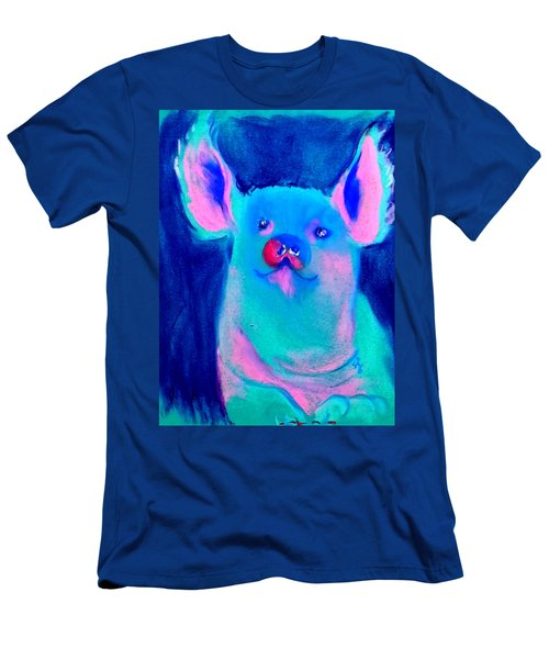 Funky Piggy Blue Men's T-Shirt (Athletic Fit)