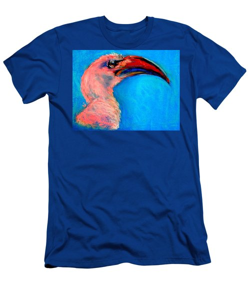 Funky Red-billed Hornbill Art Print Men's T-Shirt (Athletic Fit)