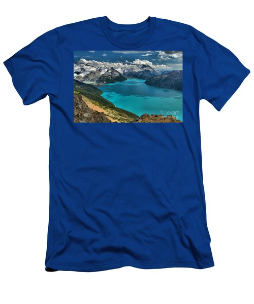 Garibaldi Lake Blues Greens And Mountains Men's T-Shirt (Athletic Fit)
