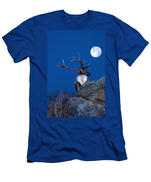 Gazing At The Moon Men's T-Shirt (Athletic Fit)