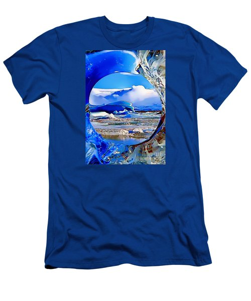 Glacier Men's T-Shirt (Slim Fit) by Catherine Lott