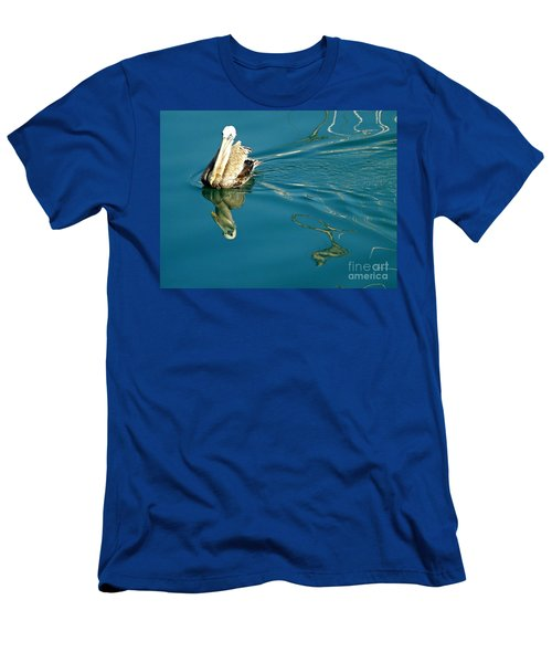 Men's T-Shirt (Slim Fit) featuring the photograph Gliding by Clare Bevan