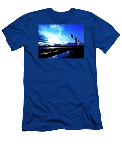 Men's T-Shirt (Slim Fit) featuring the photograph Go Seahawks by Eddie Eastwood