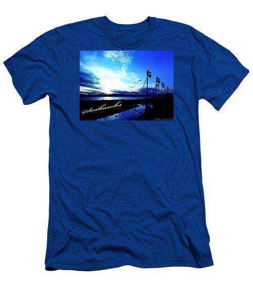 Go Seahawks Men's T-Shirt (Slim Fit) by Eddie Eastwood
