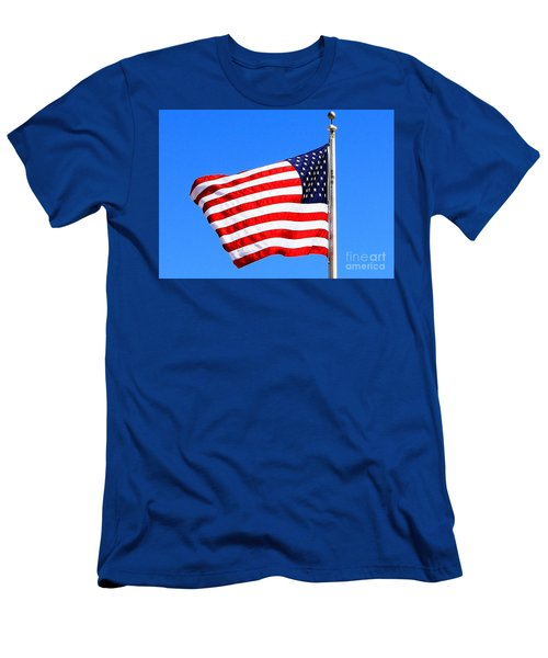 Men's T-Shirt (Slim Fit) featuring the photograph God Bless America by Judy Palkimas