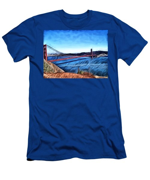 Windy Day At Golden Gate Bridge Men's T-Shirt (Athletic Fit)