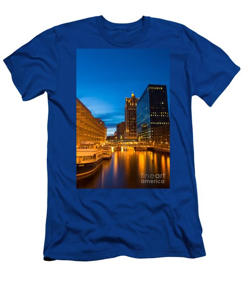 Golden Hour Milwaukee River Men's T-Shirt (Athletic Fit)