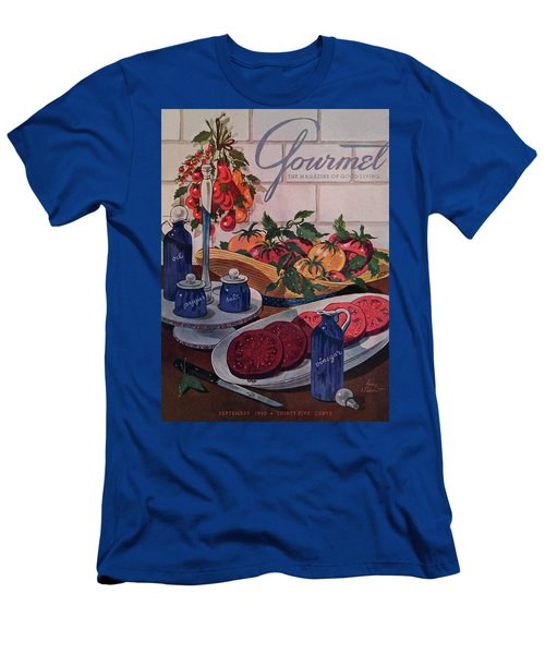 Gourmet Cover Of Tomatoes And Seasoning Men's T-Shirt (Athletic Fit)