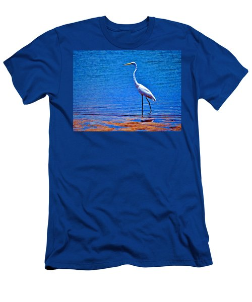 Men's T-Shirt (Slim Fit) featuring the photograph Great Egret by Ludwig Keck