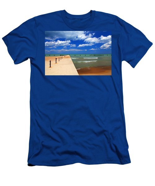Great Lake Horizon Clouds Men's T-Shirt (Athletic Fit)