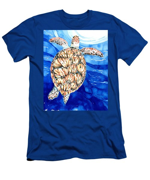 Green Sea Turtle Surfacing Men's T-Shirt (Athletic Fit)