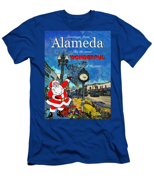 Alameda Christmas Greeting Men's T-Shirt (Athletic Fit)