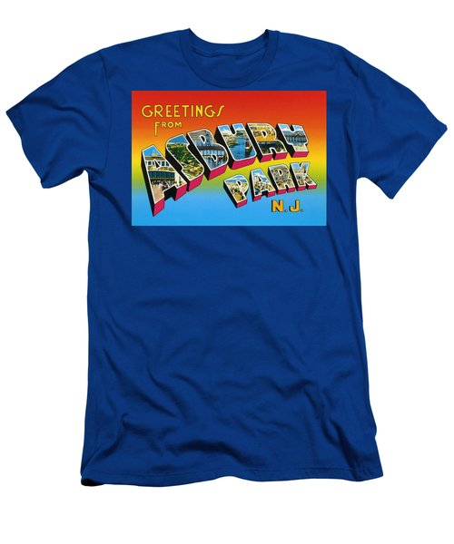 Greetings From Asbury Park Nj Men's T-Shirt (Athletic Fit)
