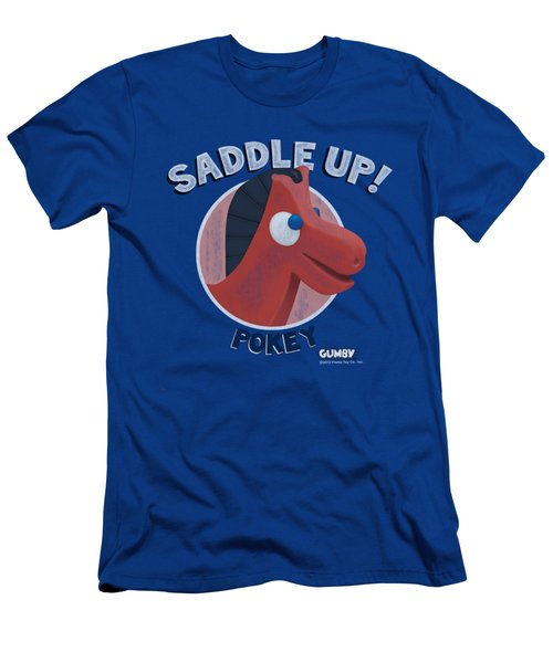 Gumby - Saddle Up Men's T-Shirt (Athletic Fit)