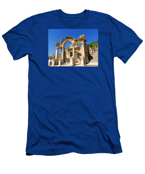 Men's T-Shirt (Slim Fit) featuring the photograph Hadrian Temple Ephesus by Lou Ann Bagnall