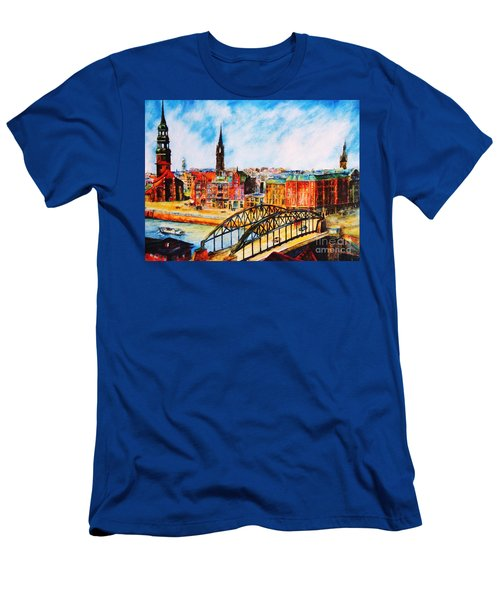 Hamburg - The Beauty At The River Men's T-Shirt (Athletic Fit)