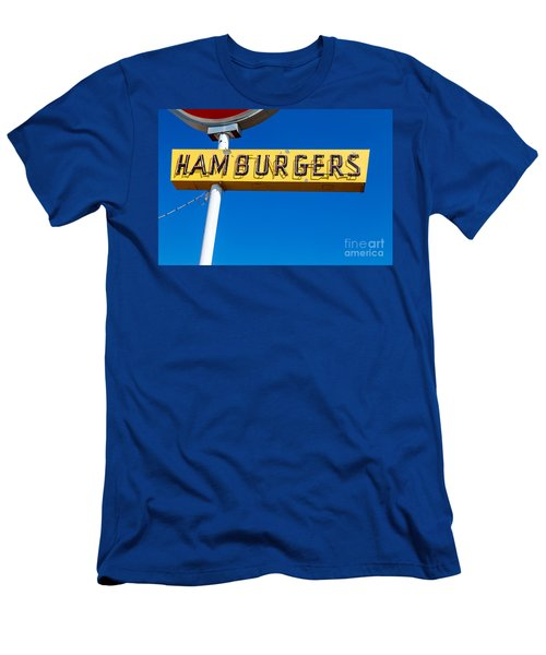 Hamburgers Old Neon Sign Men's T-Shirt (Athletic Fit)
