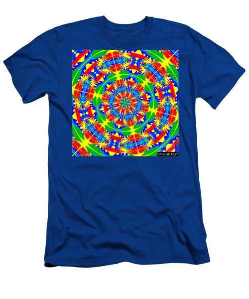 Happy Hands Mandala Men's T-Shirt (Slim Fit) by Linda Weinstock