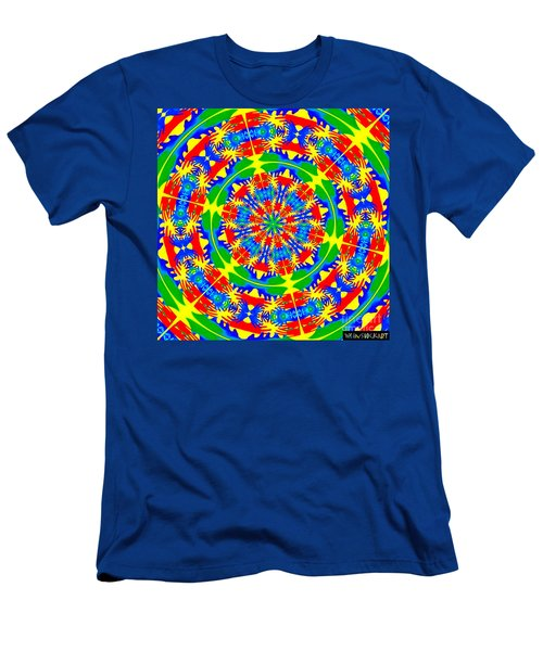 Happy Hands Mandala Men's T-Shirt (Athletic Fit)
