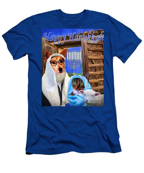 Happy Hanukkah  - 2 Men's T-Shirt (Athletic Fit)