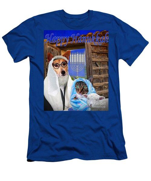 Happy Hanukkah -1 Men's T-Shirt (Athletic Fit)